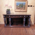 A charming table and painting