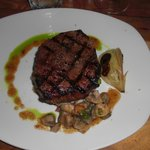 Grilled Ribeye with carmelized Maui sweet onion & lucious sauces