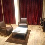 Seating area in deluxe room