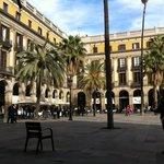 Placa de Reial where the hotel is located