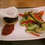 Poached Egg, Haggis and Tattie Scone