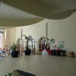 Ocean Terrace lobby and restaurant tables (main restaurant is beyond doors)