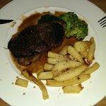 Steak in balsamic reduction sauce