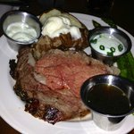 Prime rib dinner (medium rare) - my husband loved it!