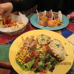 Taco dish and nachos