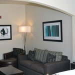 Each room is customized with modern artwork