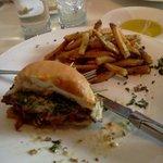 L'Albatros burger, half eaten...