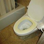 Toilet in room