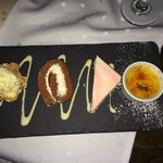 desserts - preseted on slate