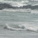 Powerful waves joining and spreading