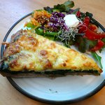Spinach-Mushroom&Feta Cheese Quiche