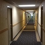 Interior hallway.  There are all sorts of rooms however. inside entrance, outside entrance, even