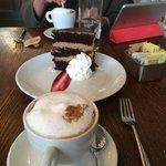 Cappucino, Chocolate Cake, Olympics on iPad