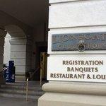 Entrance and registration.
