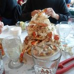 Our table's stack the crab shell effort!