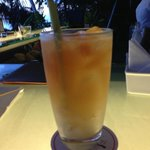Lychee and Lemongrass Ice Tea at 360 Bar