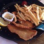 $16 Perch dinner...more breading than fish!