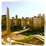 Obelisco, avenida 9 de julio y avenida corrientes