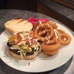 Shawarma Land Burger Combo #burger #onionrings #shawarmaland #aurora #toronto #amazing #amazingf