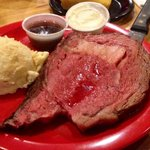 Sat Nite Prime rib $13 special. I like mine RARE!!  It had an amazing smoky flavor!! Better than