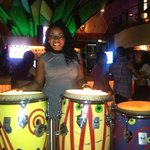 Playing the bongos at Bongo's.