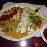 Shrimp burrito $12.50 and it was very tasty!