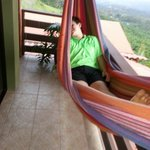 Enjoying the hammock in the fresh mountain air