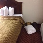Pillows as left by housekeeping.