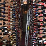 Some of the 100,000 bottles in the wine cellar