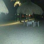 piscina vista nocturna