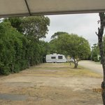 Our site until view obliterated by other vans