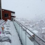 The Sundeck while snowing
