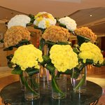 lobby's fresh flowers