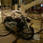 the motorcycles in the lobby