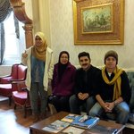 Us with mr Ismael, Tashkonak hotel staff