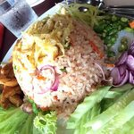 Belacan Fried rice as main course