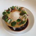 Poached Egg with Pok & Foie Gras