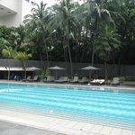 A fantastic pool area