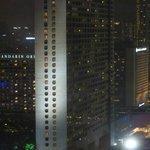 Night view of Ritz-Carlton Millennia from Singapore Flyer