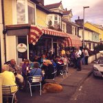 Busy day at the Sea View Tearooms & Coffee Lounge