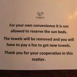Lägg inte ut handuken!
