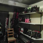 Boot shelves in boot room