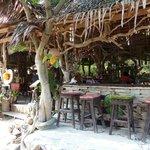 Bar hinter den Resort