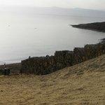 la spiaggia sul Mar Morto