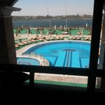 View of Nile and the Pool area from the restaurant