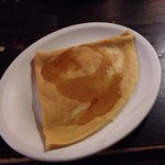 Maple syrup crepe