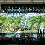 Hotel pool bar (great bar meals too)