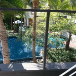 View of pool from Sansky Villa roof terrace