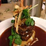 shoulder of lamb with chive mash & rosemary jus