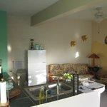 living area: open floor plan
